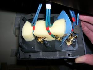 Inside of speaker terminal panel